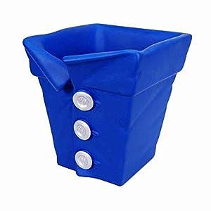 Pot soucoupe Cache-pot sbottonami en résine décorée Bleu Made in Italy