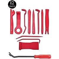 LST Auto Demontage Werkzeuge, 12 Stück Auto Zierleistenkeile-Set Universal Automotive Reparatur Werkzeug für Fahrzeug Innen Verkleidung Demontage Polsterung Montage Rot