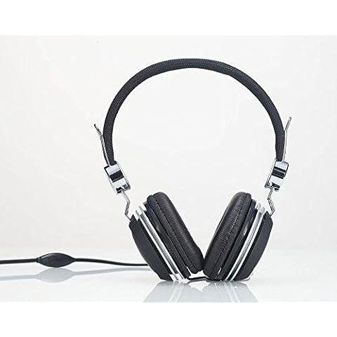 Head-Cuffie Over-Stereo con microfono per Lenovo Vibe P1/Plus/PHAB Vibe P1m Vibe YOGA/S1/Tab 3 da 8 (10 Pollici Vibe)