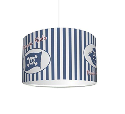 er Lampenschirm Pirate Kids KL26 | kinderleicht eine Piraten-Lampe erstellen | als Steh- oder Hängeleuchte/Deckenlampe | perfekt für Piraten-begeisterte Jungen & Mädchen ()
