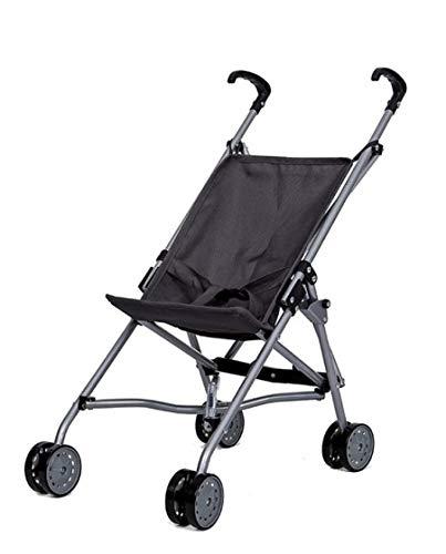 Sillita de Paseo para Muñecas - Metal - Plegable - Con cinturón de Seguridad - Altura manillar: 55 cm - Grey