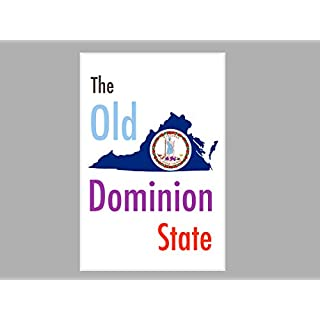 ArtsyCanvas Virginia-the Old Dominion State Map Flag (Poster), 36 x 24