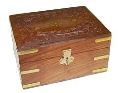 Idea Regalo - Ancient wisdom - Scatola in legno contenente 12 flaconcini da 10 ml per aromaterapia