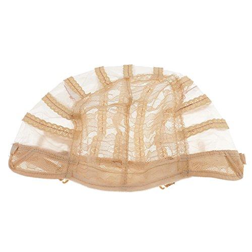 perfk Haarnetz Unterziehhaube Spitze Perückennetz - Beige