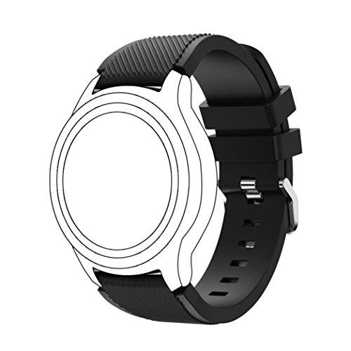12shage Neue Art- und Weisesport-Silikon-Uhr-Band für Samsung Gear S3 Frontier (Black)