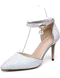 AnMengXinLing 04-2-75-411-LDH - Zapatos de Vestir de sintético Para Mujer