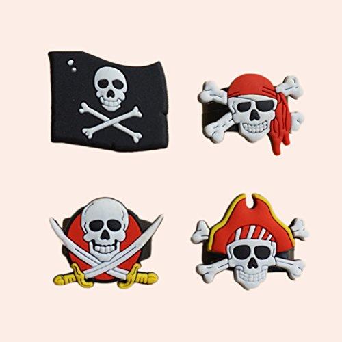STOBOK 24 stücke Kinder Piraten Party supllies Spielzeug piratenringe Geburtstagsfeier bevorzugt schädel Crossbone Spielzeug Ringe