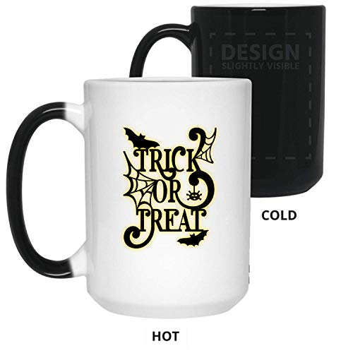 Trick Or Treat Gift For Halloween, Best Halloween, Happy Halloween, Funny Halloween - 11 oz Color Changing Mug With Large C-handle By Mirasuper