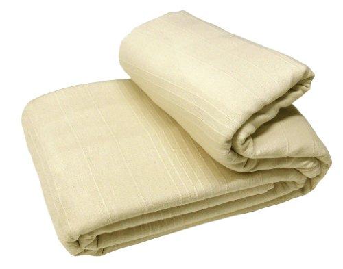 EliteHomeCollection Sofa-Überwurf/ Tagesdecke Indian Classic Rib, 250 x 250 cm, mit 2Kissenbezügen, naturfarben