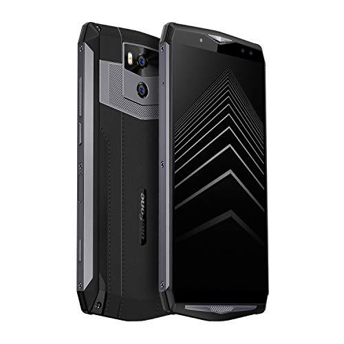 """Ulefone Moc 5 Smartphone odblokowany z zaskakująca od 13000 mAh, Androida 8.1 (2018) 6GB + 64GB i 6.0 """"FHD Wyświetlacz + komórka, Cztery kamery i Sim Dual Standby, twarzy i odciski palców 5A ID Szybkie ładowanie (czarny)"""