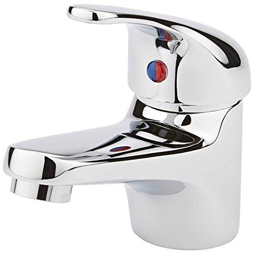 Wasserhahn Einhebel Armatur Waschtischarmatur Waschbeckenarmatur Waschtisch Mischbatterie für Bad Chrom