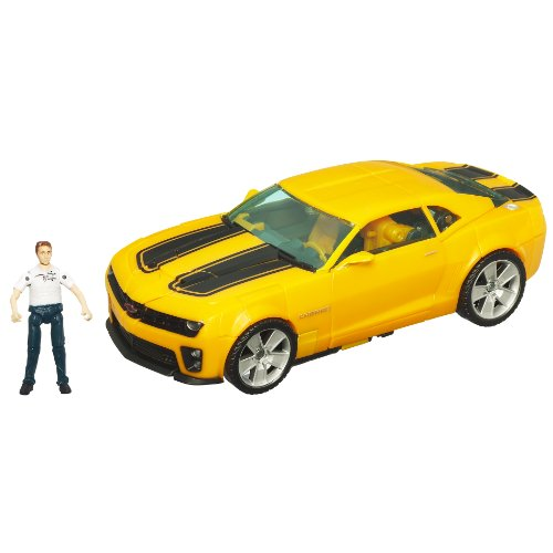 Transformers - 97771 - Human Alliance - Hunt for the Decepticons - Level 4 - Voyager Class - Bumblebee (ca. 15 cm) mit Sam Witwicky (ca. 5 cm)