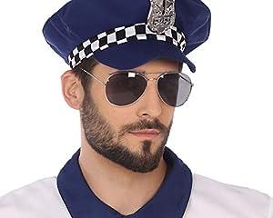 Atosa-56505 Atosa-56505 - Accesorio para disfraz de policía y prisioners-gafas, sexy, adulto, unisex, color plateado, talla única