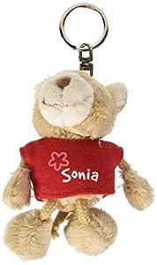 NICI n15843-Llavero Oso con Camiseta Sonia, Rojo