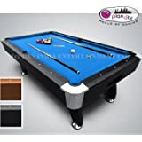 Play In The City Pool Table 8ft. X 4ft. Blue American Billiard Style With Accessories