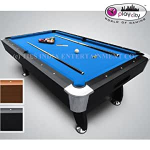 ... Play In The City Pool Table 8ft. X 4ft. Blue American Billiard Style  With
