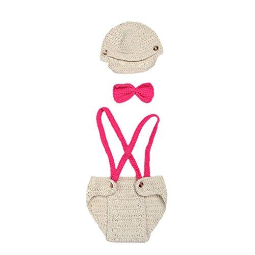 Säuglings Pilot Kostüm - Deylaying Säugling Baby Häkeln Hut Hose Pilot Kostüm Gestrickt Fotografie Foto Props Handgefertigt Outfit Geschenk