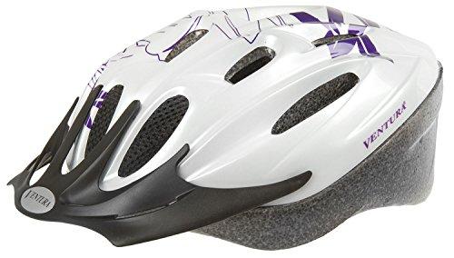 Ventura Damen Fahrradhelm White Flower, weiß/violett, M, 731032.0