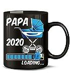 Golebros Geschenk für werdenden - Papa 2020 Loading 6405 Schwangerschaft Geburt Baby Junge Babyparty Tasse Becher Kaffeetasse Geschirr Schwarz AD Blau