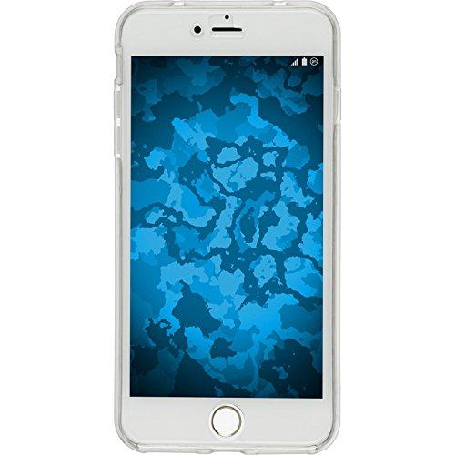 PhoneNatic Case für Apple iPhone 7 Plus Hülle Silikon hellblau 360° Fullbody Cover iPhone 7 Plus Tasche + 2 Schutzfolien Clear