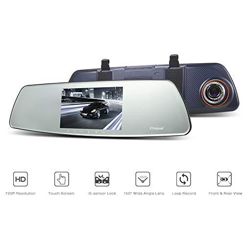LINGYUN 5-Zoll-High-Definition-IPS-Touchscreen Dual-Lens-Rückfahrbild Auto-DVR, 1080P Nachtsicht-Fahrrekorder, Support-Parküberwachungszyklus-Bild