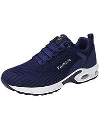 Ocio Hombres Plataforma Plana Zapatillas de Correr Zapatos Antideslizantes Zapatillas Ligeras Transpirables