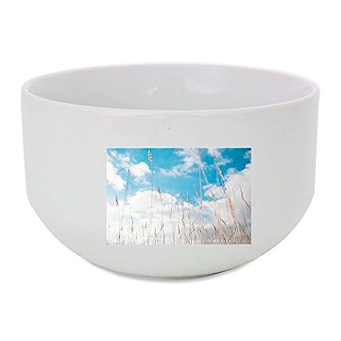 Gras, Hay, Summer, Blue, Nature, Sky ceramic bowl