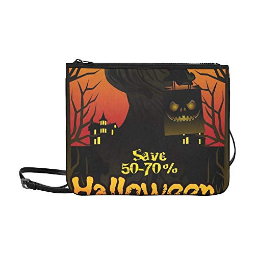 WYYWCY Halloween Sale-Angebot Poster Design Konzept Benutzerdefinierte hochwertige Nylon Slim Clutch Bag Cross-Body Bag ()