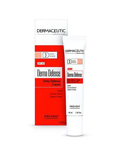 Dermaceutic Derma Defense LSF 50 Creme leichte Tönung - Getönte Tagescreme - Feuchtigkeitsspendende Daily Defense (DD)-Creme für maximalen Schutz und ein verbessertes Hautbild - 40 ml - Derma Tagescreme