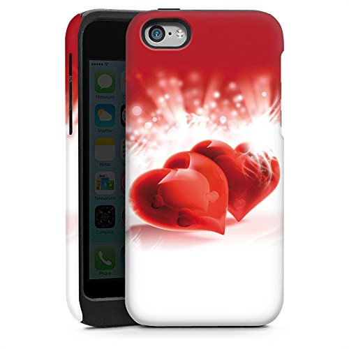 Apple iPhone 4 Housse Étui Silicone Coque Protection C½ur Amour Amour Cas Tough brillant