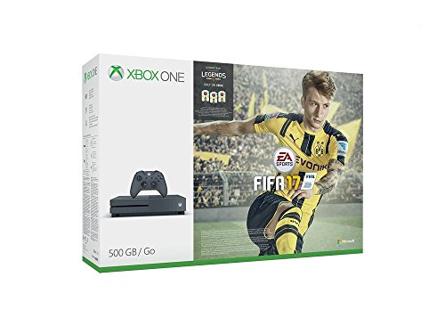 Xbox One S 500GB Konsole (Grau) - FIFA 17 Special Edition Bundle (exklusiv bei Amazon.de)