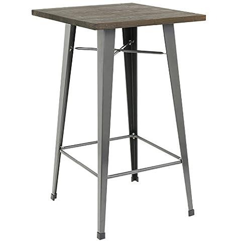 Hartleys Tall Industrial Design Table - Gunmetal &