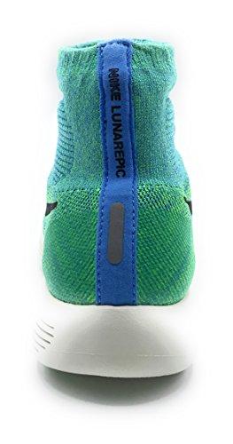 Nike Damen Wmns Lunarepic Flyknit Laufschuhe Azul (Unvrsty Blue / Blck-Vltg Grn-Sl)
