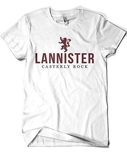 Camisetas La Colmena Herren T-Shirt schwarz Schwarz Weiß