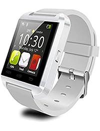 Rcool Smartwatch Mate Teléfono Bluetooth 4.0 para Android HTC Samsung (Blanco)
