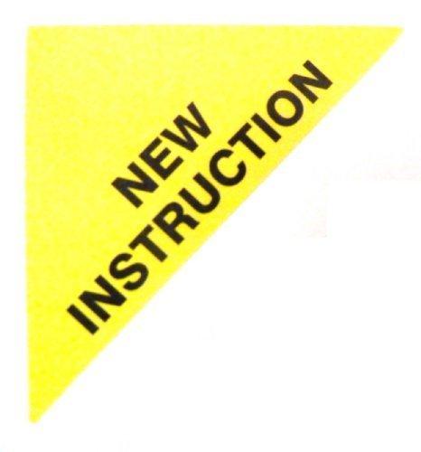 Etiquetas Para Viviendas En Venta , texto: NUEVO INSTRUCCIONES , Amarillo , Triángulo Grande , Inmuebles & Alquileres Agente pegatinas autoadhesivas