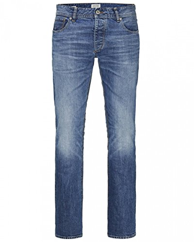 Jack and jones - Tim 34 blue denim jeans - Pantalon jeans slim Bleu marine / bleu nuit