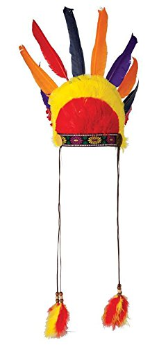 Native Indian Headress Hat Fancy Dress Adult One size Costume