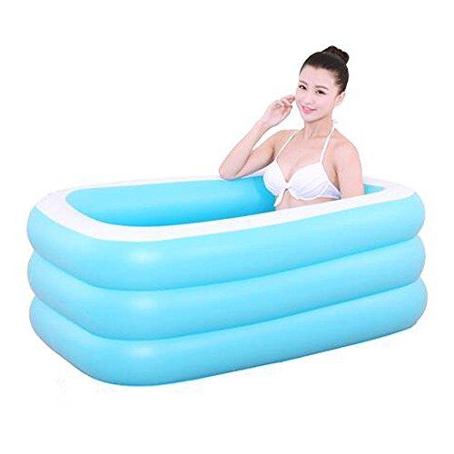 gbare faltbare Badewannen-Paar-aufblasbare Badewanne Coverless rechteckige aufblasbare Badewanne Tragbare aufblasbare Badewanne PVC passend für Garten draußen Blau (Erwachsene Jane Kostüme)