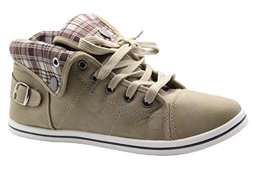 Piatti Alte Scarpe Lacci Dimensioni Pompa Hi Beige 8 Sportive Benzi Sneakers 3 7Sapq