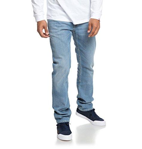 DC Shoes Worker Light Bleach - Straight Fit Jeans for Men - Männer (Shoes Jeans Dc)