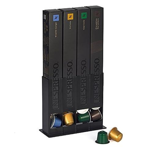 HiveNets Nespresso Capsules Range Dosette Support Distributeur de Boîte Coffee Pod Storage Métal pour 40 Pcs