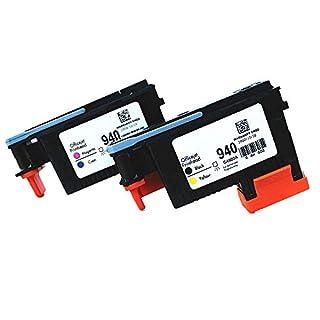 ASW kompatible für HP940 Druckkopf C4900 A C4901 A 2 Stück 1xBlau / Gelb, 1xCyan / Magenta (2PCS, by/MC) wiederaufbereitete für HP Officejet mit Pro 8000 8500 8500 A 8500 A Plus 8500 A Premium