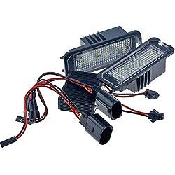 Sidougeri 2x18SMD Fehlerfreie LED Kennzeichenbeleuchtung Lampen V~W Golf MK4 MK5 MK6 Passat Po.lo CC Eos Scirocco Nummernschild