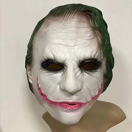 TYJH Latexmaske Batman Dark Knight Maske Grünes Haar Clown Halloween Horror