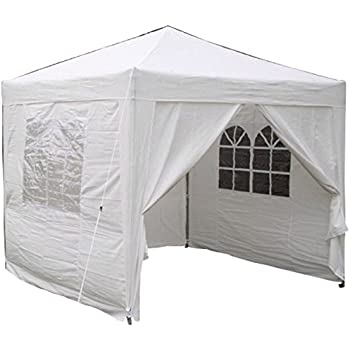 Airwave 2.5x2.5mtr Pop Up Waterproof Gazebo in White with 2 WindBars and 4 Leg Weight Bags