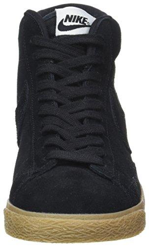 Nike Herren Blazer Mid Premium Sneaker, Schwarz Schwarz (Black/black-gum Lt Brown)