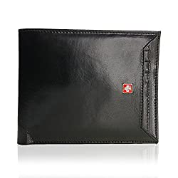 Swiss Military Men Black Wallet (LW23)