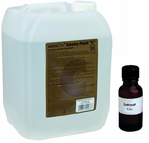 Nebelmaschine Lösung (5 Liter Eurolite C (Standard) Nebelfluid + 30 ml Duftstoff Cola, Smoke-Fluid, Nebel-Fluid-Flüssigkeit für)