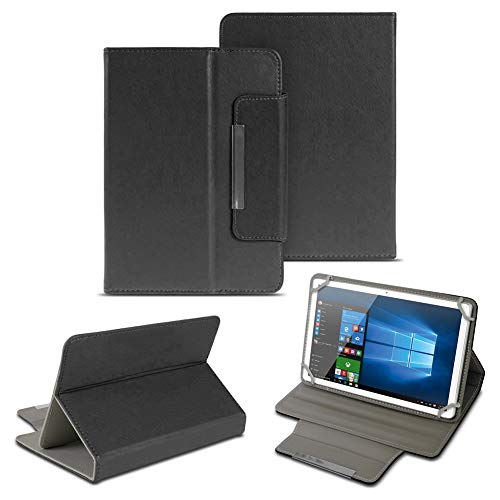 NAUC Universal Tasche Schutz Hülle 10-10.1 Zoll Tablet Schutzhülle Tab Case Cover Bag, Farben:Schwarz, Tablet Modell für:Kiano Slim Tab 10.1